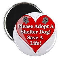 adopt_a_shelter_dog_white_transparent Magnet