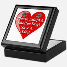 adopt_a_shelter_dog_white_transparent Keepsake Box