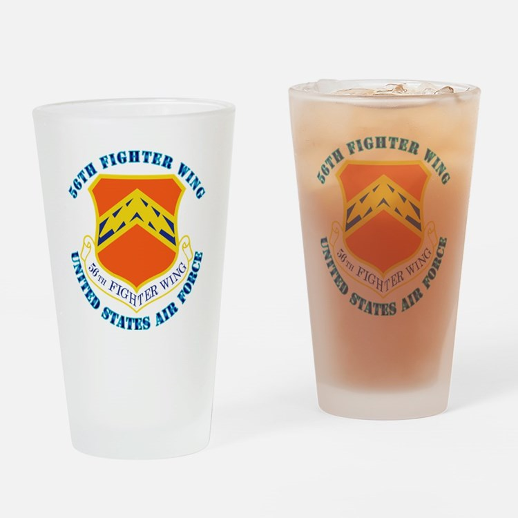 56th-fighter-wing-txt Drinking Glass