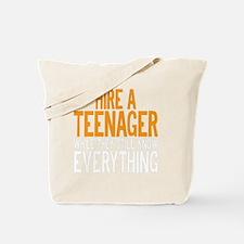 HIREATEENAGERDRK Tote Bag