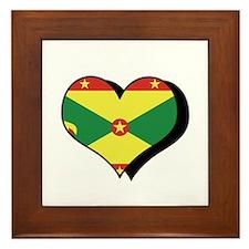 I Love Grenada Framed Tile