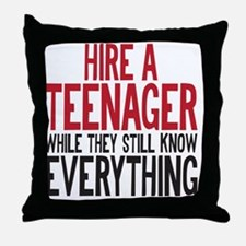 HIREATEENAGER Throw Pillow