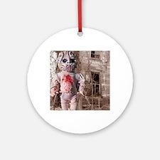 Scary Nigel doll Round Ornament