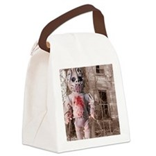 Scary Nigel doll Canvas Lunch Bag