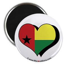 """I Love Guinea Bissau 2.25"""" Magnet (100 pack)"""