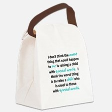 I dont think the worst thing Canvas Lunch Bag