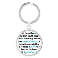 I dont think the worst thing Round Keychain