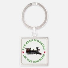 IVE BEEN WORKING ON THE RAILROAD G Square Keychain