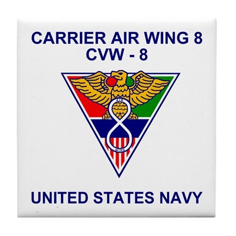 Carrier Air Wing 8<BR>Tile Coaster