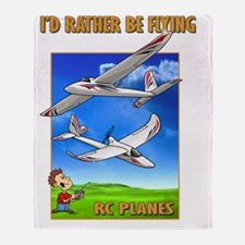SkySurfer Id rather be flying Throw Blanket