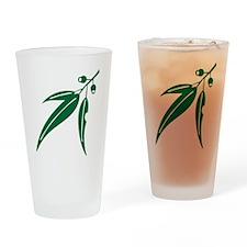 logo_leaf_heritagegreen Drinking Glass