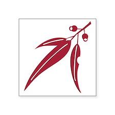 "logo_leaf_waratah Square Sticker 3"" x 3"""