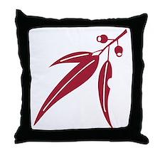 logo_leaf_waratah Throw Pillow