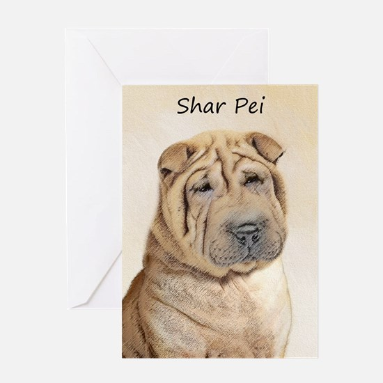 Shar Pei Greeting Card