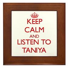 Keep Calm and listen to Taniya Framed Tile