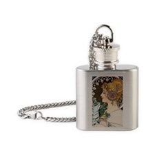 Mucha Mag 36 Flask Necklace