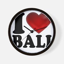 I Heart Bali Light Wall Clock
