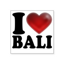 "I Heart Bali Light Square Sticker 3"" x 3"""