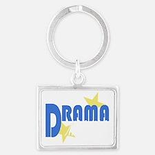 Drama Mama white.gif Landscape Keychain