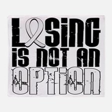 D Lung Cancer Losing Is Not An Optio Throw Blanket
