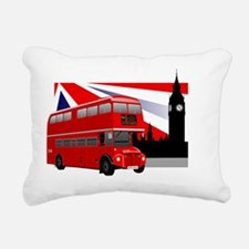 londonbus Rectangular Canvas Pillow