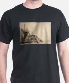 The Windmill - Rembrandt - c1641 T-Shirt