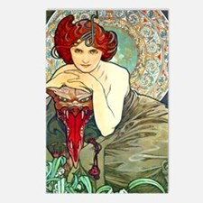 J Mucha Emerald Postcards (Package of 8)