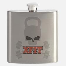 crossfit cross fit skull kettlebell dark Flask
