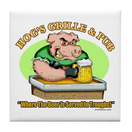 Hogs Grille & Pub Tile Coaster