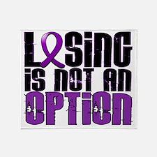 D Fibromyalgia Losing Is Not An Opti Throw Blanket