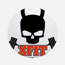 crossfit cross fit skull kettlebell light Ornament