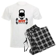 crossfit cross fit skull kettlebell light pajamas