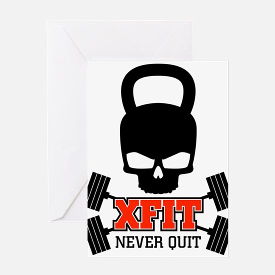 crossfit cross fit skull kettlebell light Greeting