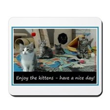 Enjoy the kittens - have a nice day! Mousepad