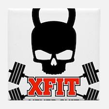 crossfit cross fit skull kettlebell light Tile Coa