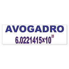 Avogadro_number_straight_2_1_2012 Bumper Bumper Sticker