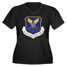 Air-Force-Gl Women's Plus Size Dark V-Neck T-Shirt