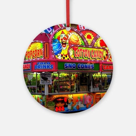 clown cotton candy Round Ornament