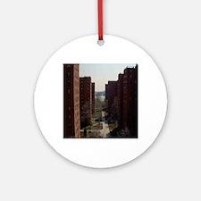 projectz-window-view Round Ornament