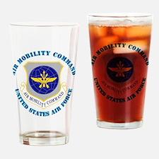 AirMobilityCommandwText Drinking Glass