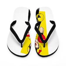 Ms Pac-Man Flip Flops