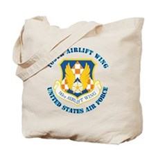 105th-Airlift-Wing-with-Text Tote Bag
