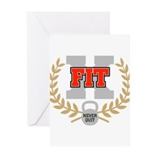 crossfit cross fit champion dark Greeting Cards