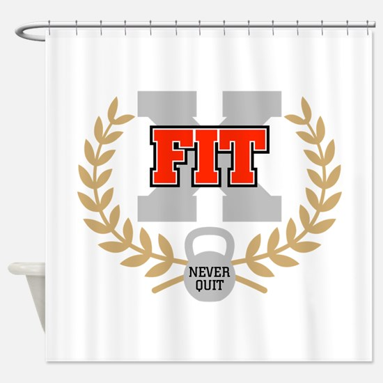 crossfit cross fit champion dark Shower Curtain
