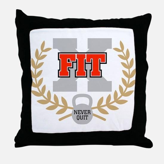 crossfit cross fit champion dark Throw Pillow