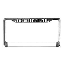 stop.tyranny License Plate Frame