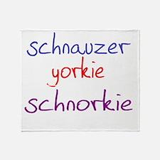 schnorkie_black Throw Blanket