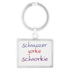 schnorkie_black Landscape Keychain