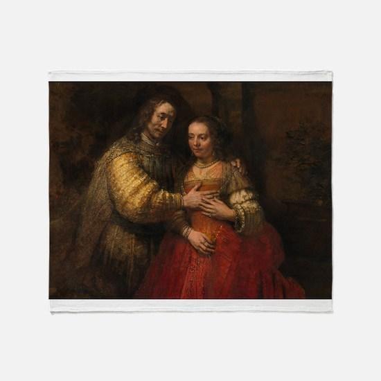 The Jewish bride - Rembrandt - c1665 Throw Blanket