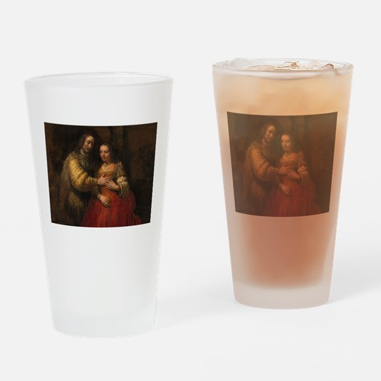 The Jewish bride - Rembrandt - c1665 Drinking Glas